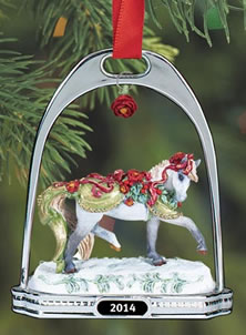 Breyer #700314 Bayberry & Roses Holiday Horse Stirrup Ornament Christmas 2014