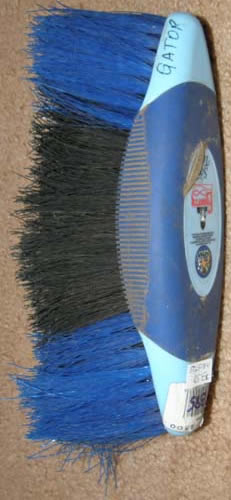 Equerry Soft Touch Canoe Dandy Brush Poly Brush Horse Grooming Brush Blue/Black