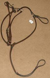 Round Raised Breastplate English Breastplate with Standing Martingale Attachment Running Martingale Attachment Pony/Cob