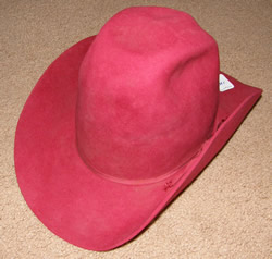 Bailey Red Western Hat, Cowboy Hat Red 7