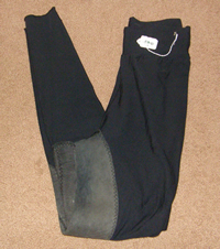 Pull On Full Seat English Breeches Schooling Tights Riding Pants Ladies 24 Black