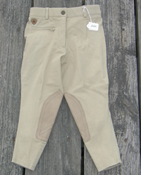 Ariat Sport Knee Patch Breeches English Breeches Riding Pants Show Breeches Childs 6 Khaki