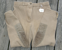 Comfort Riders Cotton Knee Patch English Breeches Riding Pants Ladies 28L Khaki
