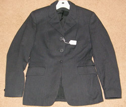 Pytchley English Jacket Hunt Coat English Riding Coat Childs 14/Ladies 10? Charcoal Pinstripe