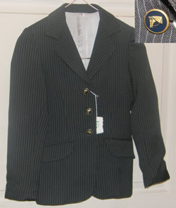 Town & Country English Jacket Hunt Coat English Riding Coat Childs 8 Dark Navy/Gray Pinstripe