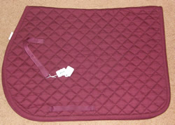 DoverQuilted Cotton Event Pad English Saddle Pad Burgundy
