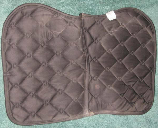 BR Equestrian Quilted Cotton Padded Event Pad All Purpose English Saddle Pad Cob Size Black