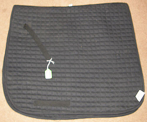 Cavalier Century Pro Dressage Pad Black Quilted Cotton Pad English Saddle Pad