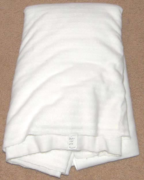 Super Soft White Fleece Type Fabric Cotton/Poly Dress Material Remnant