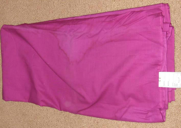 Magenta Fabric Cotton/Poly Dress Material Remnant