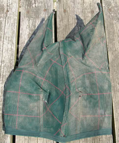 Farnam SuperSheet Protective Horse Fly Mask with Ears Green Plaid Horse