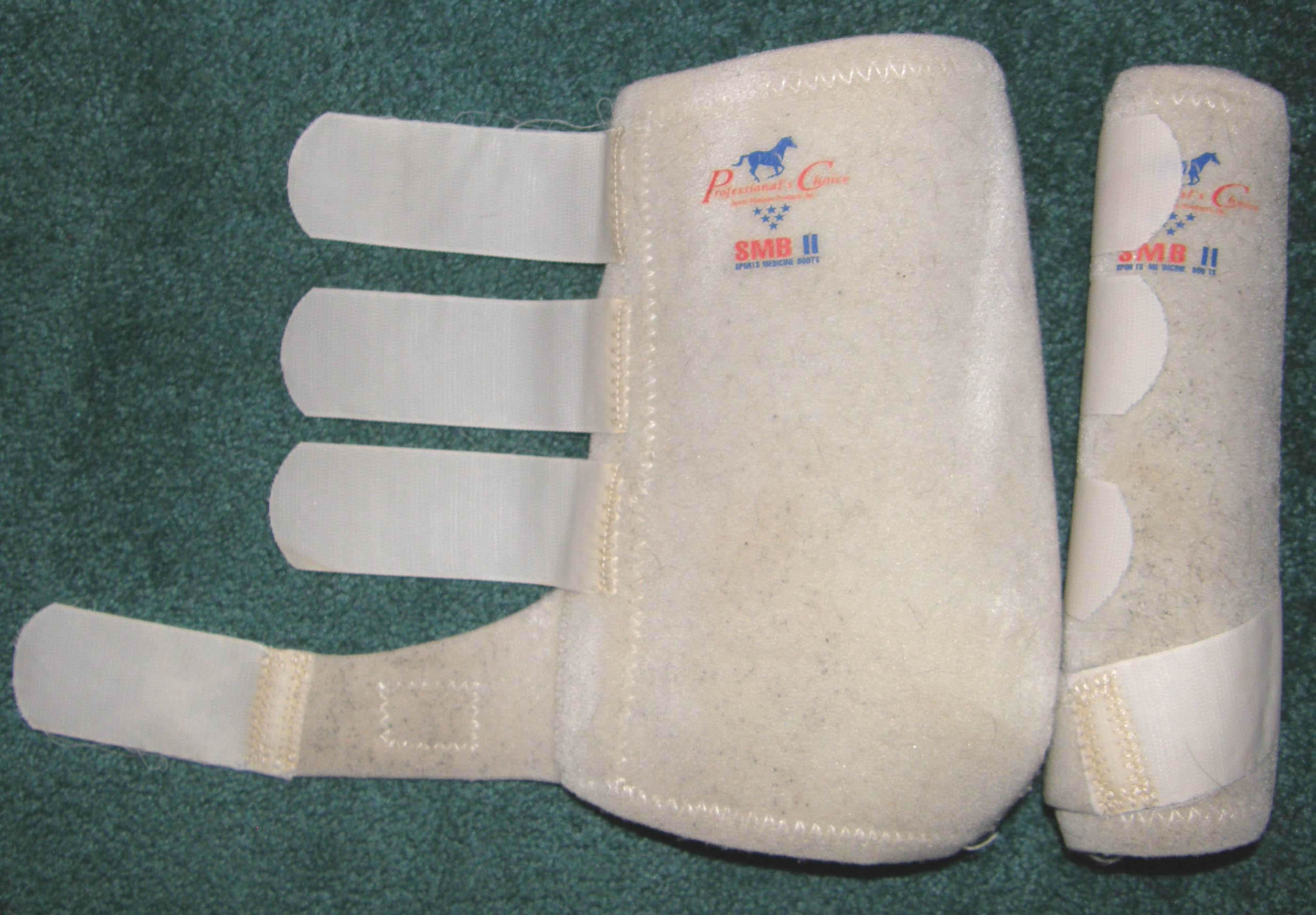 Professional's Choice SMB II 200 Sports Medicine Boots Leg Protection L Horse White