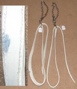 White Leather Lead with Chain Draft Horse Show Lead with Chain