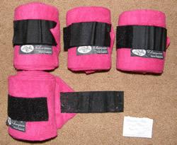 Champion Polo Wraps Leg Wraps Horse Leg Bandages Bright Pink Hot Pink
