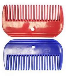 Plastic Mane Comb Horse Mane Comb Red Blue