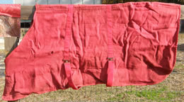 "70"" OF Acrylic Wool Lined Stable Blanket Winter Blanket Horse Red"