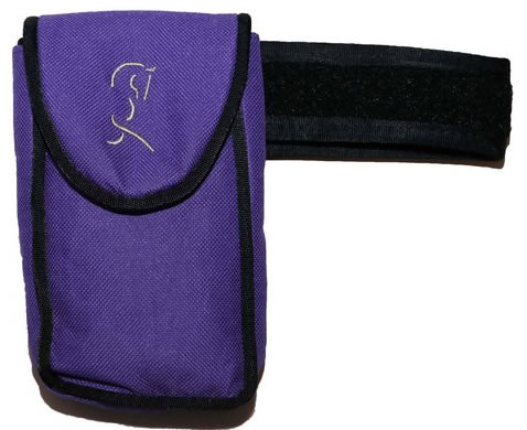 Woofhoof Magnetic Cell Phone Case Equestrian Riders Large Size Purple