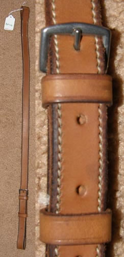 Flat Leather Buckle In Standing Martingale Attachment