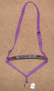 Weaver? Nylon Tiedown Noseband Tie Down Noseband Purple Southwestern Print Overlay Horse