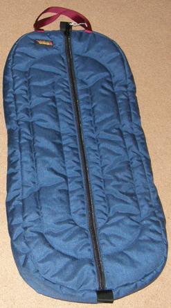 BMB Custom Cordura Quilted Nylon Halter Bag Oversize Zip Up Padded Bridle Bag Holds 3 Halters Bridles Navy Blue