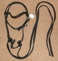 Nylon Western Bridle Browband Western Bridle Split Reins Curb Strap Black Pony/Cob/Arabian
