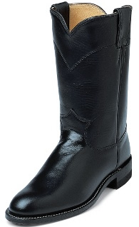 Justin Ropers Black Roper Boots Western Boots Cowboy Boots 5 1/2B