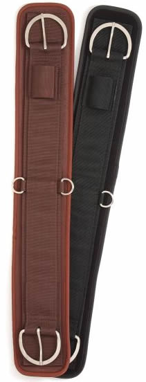 Performer's 1st Choice Air-Flow Waffle Weave Western Girth 2 Part Neoprene Western Cinch Black Brown