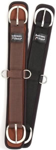 "Tough 1 Mini Air Flow Waffle Weave Western Girth 2 Part Neoprene Western Cinch 24"" Brown"