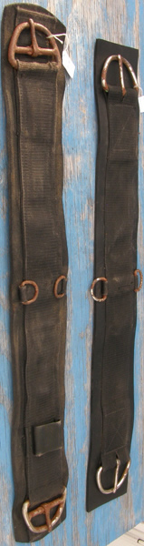 Tough-1 Black Performers 1st Choice Fleece Pony Girth Cinch with Heavy Steel Buckles and Dees