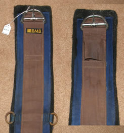 "BMB Felt Lined Western Cinch Synthetic Western Girth 32"" Nylon Western Girth Brown/Blue"