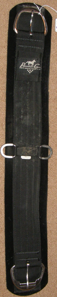 "Professional's Choice SMx Western Cinch Neoprene 2 Part Western Girth 30"" Black"