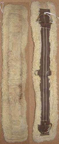 "Fleece Western Girth Fleece Western Cinch 30"" Brown"