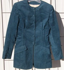 Custom Suede Look Velour Western Showmanship Jacket Western Show Blazer Teal Ladies 8?