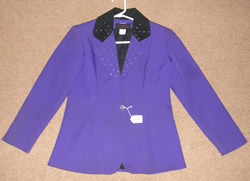 To Dy For Western Show Blazer Western Showmanship Jacket Purple/Black Childs L