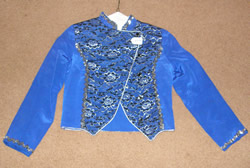 Custom Made Western Show Jacket Showmanship Jacket Rail Jacket Blue/Silver Childs L