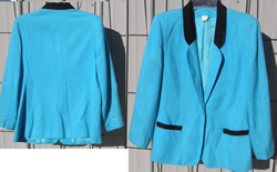 Kay Warner Western Showmanship Jacket Western Show Blazer Teal/Black Ladies 12/14?