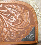 Mayatex Western Show Blanket Floral Tooled Wear Leathers by Circle Y Western Show Pad with Montana Silversmiths Silver Conchos