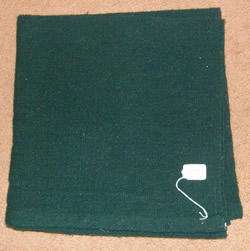 Mayatex Solid Color Woven Western Show Blanket Pad Western Saddle Blanket Hunter Green