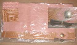Mayatex? Solid Color Western Show Blanket with Tooled Basket Weave Wear Leathers Western Saddle Blanket Pad Mauve Pink