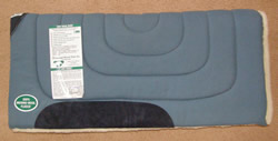 Diamond Wool Blue with Fleece Western Saddle Pad