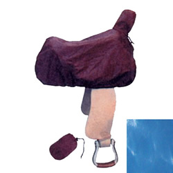 Blue Nylon Western Saddle Cover & Tote Bag