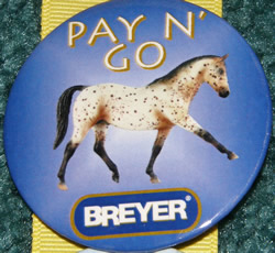 #1116 Pay N' Go Appaloosa Horse Breyer Button Pin