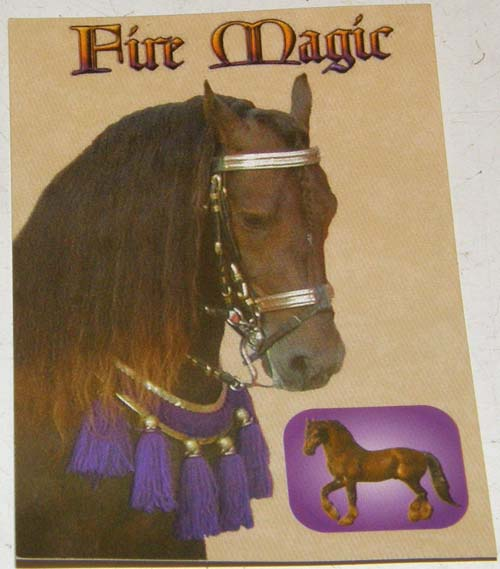 Breyer #711105 Fire Magic Friesian Stallion Breyerfest Horse Trading Card