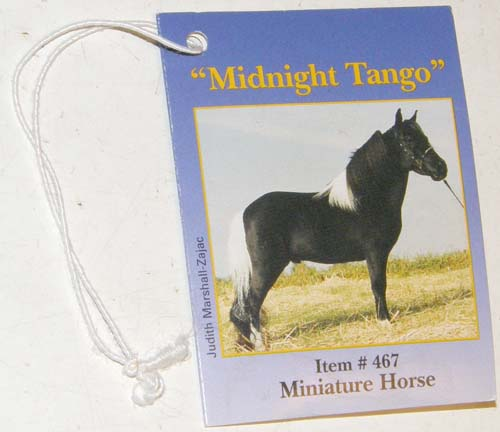 Breyer #467 Midnight Tango Miniature Horse Hang Tag Info Card
