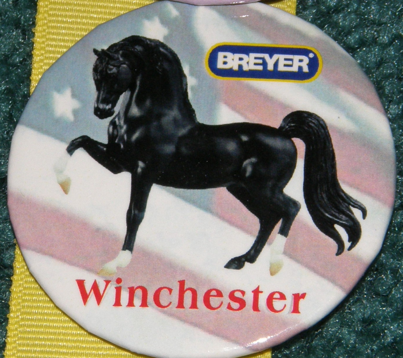 #1133 General Sheridan's Winchester Breyer Horse Button Pin