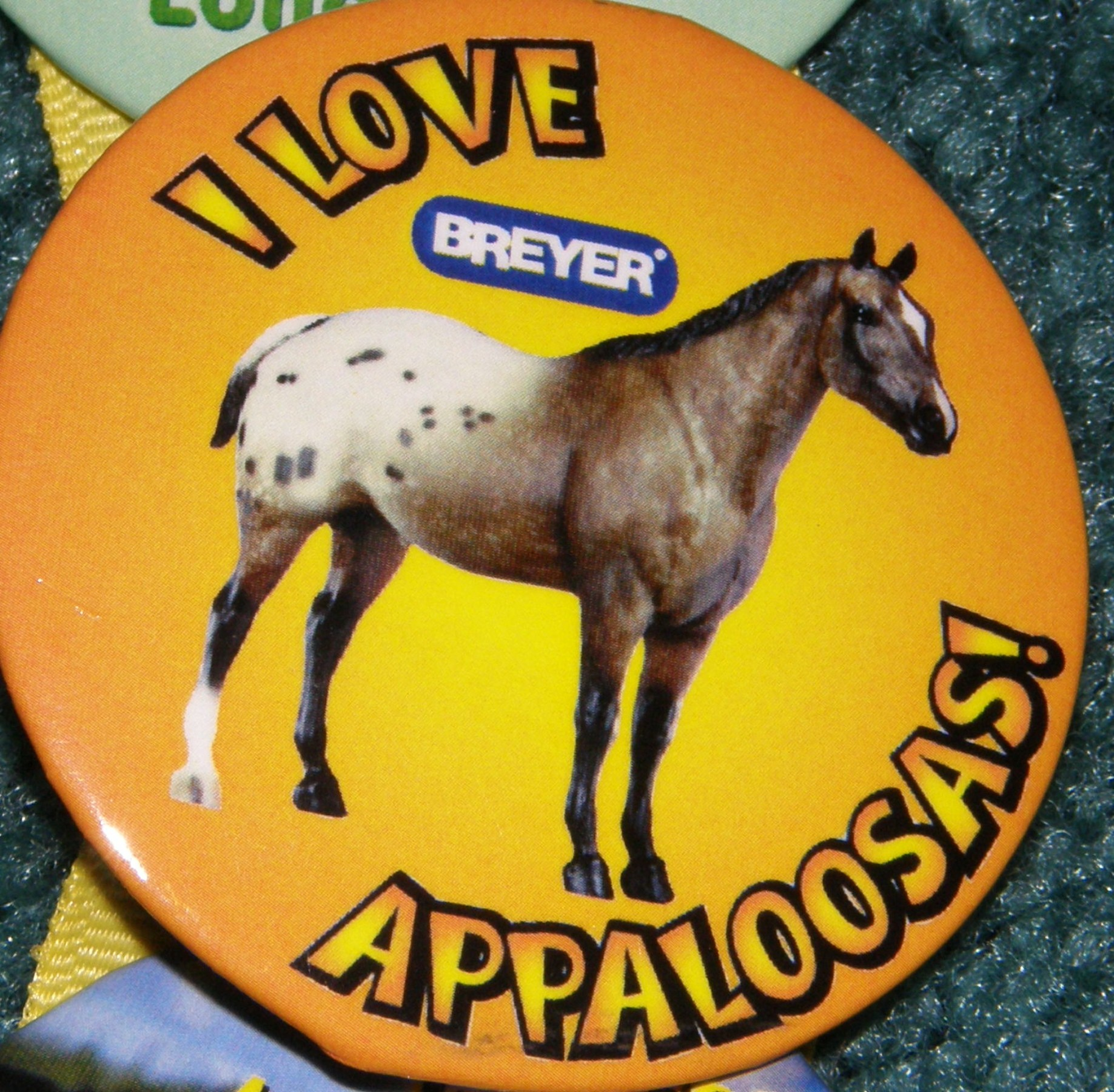 #1140 Foundation Appaloosa Horse I Love Appaloosas Breyer Button Pin