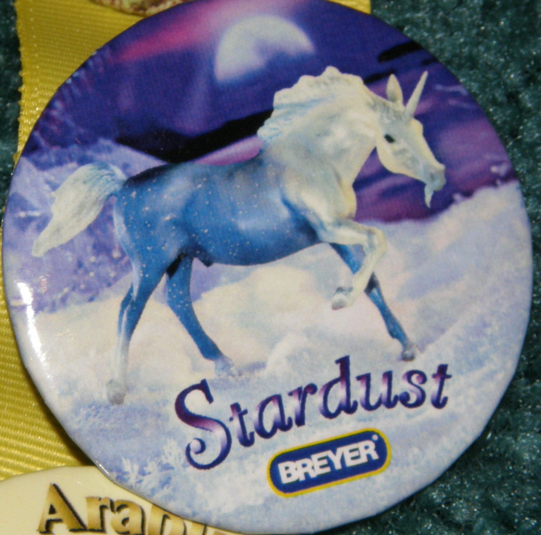 #1146 Stardust Unicorn Breyer Horse Button Pin