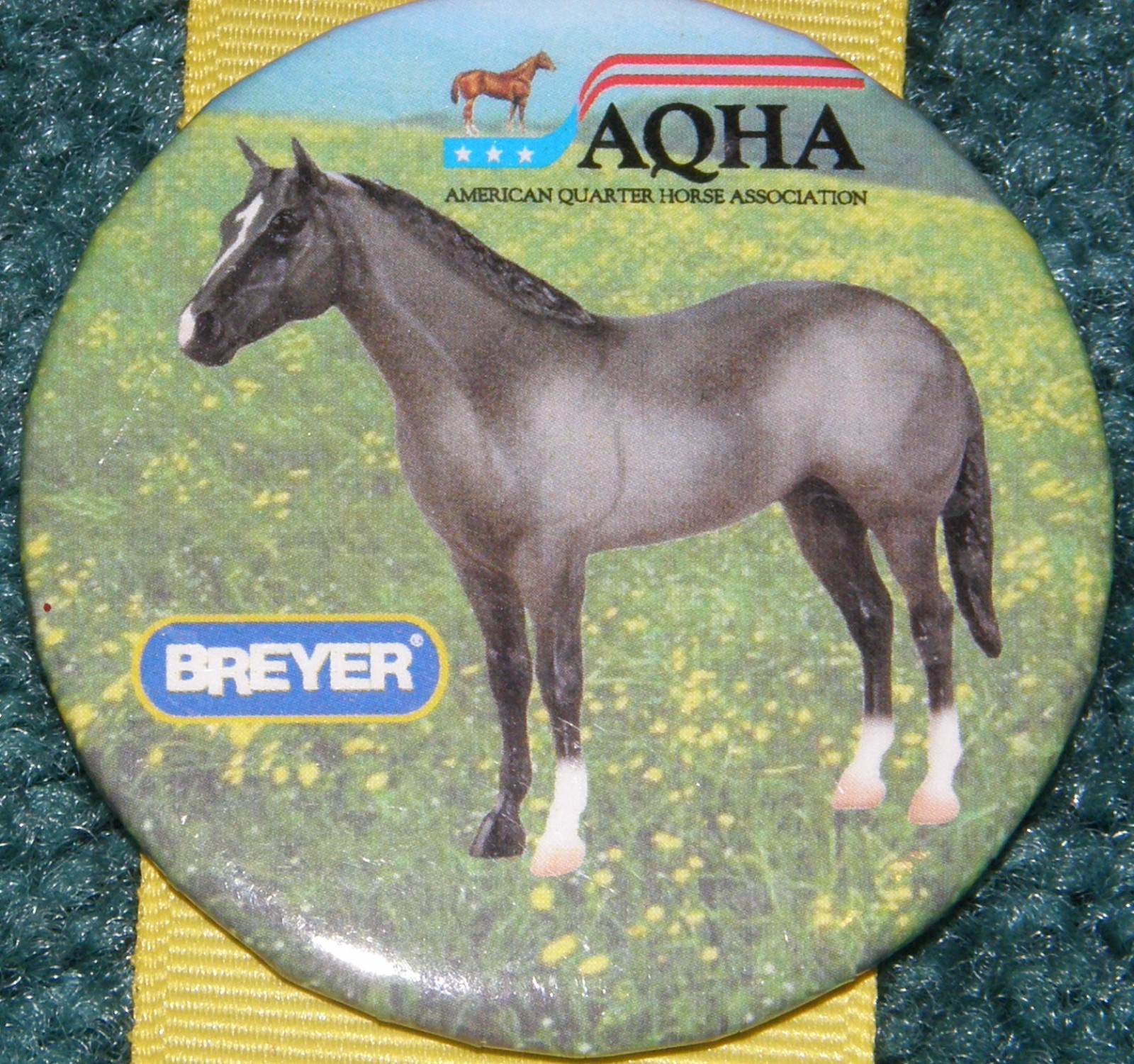 #1160 Blue Roan AQHA Quarter Horse Breyer Button Pin
