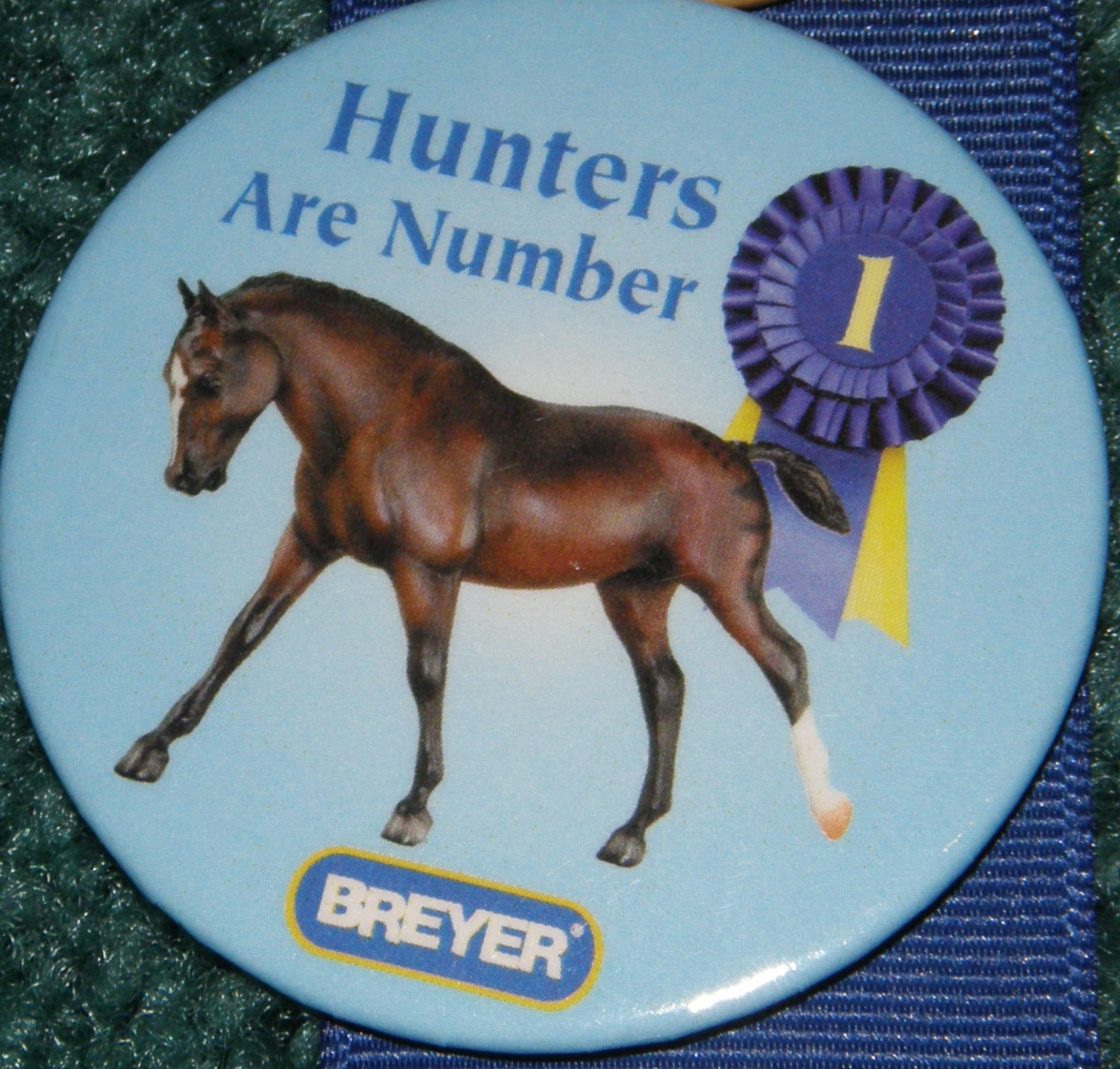 #1174 Hunter Pony CWP Welsh Pony Hunters Are #1 Horse Breyer Button Pin