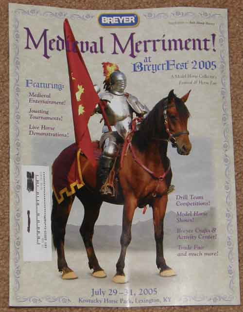 Breyer Just About Horses JAH Supplement July 2005 Medieval Merriment Breyerfest 2005 Program